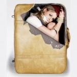 чемодан с женщиной