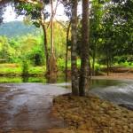 дорога сквозь ручей