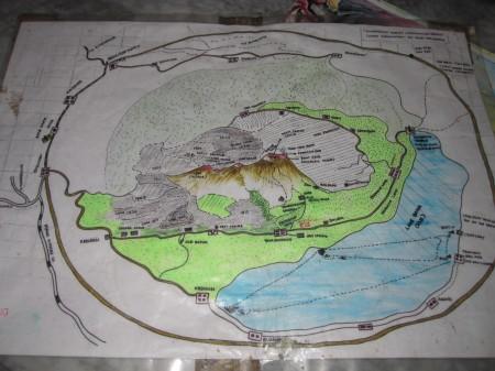 карта вулкана Батур