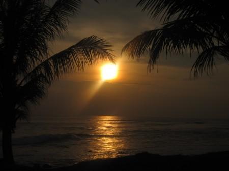 закат на юге Бали