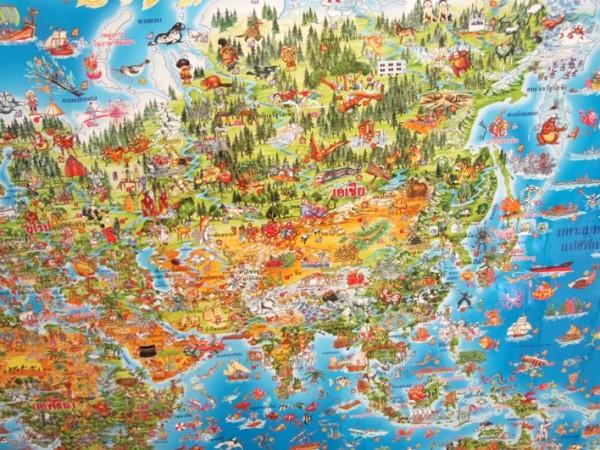 Креативная карта для тайских путешественников