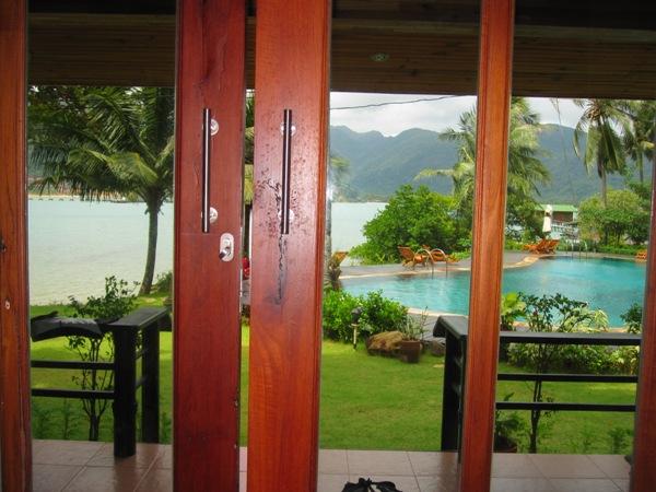 Вид из нашего номера в Resolution Resort