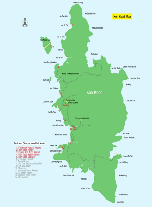 Карта острова Ко Куд