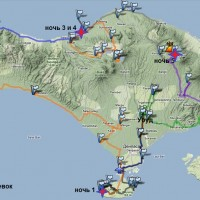Карта путешествия вокруг Бали