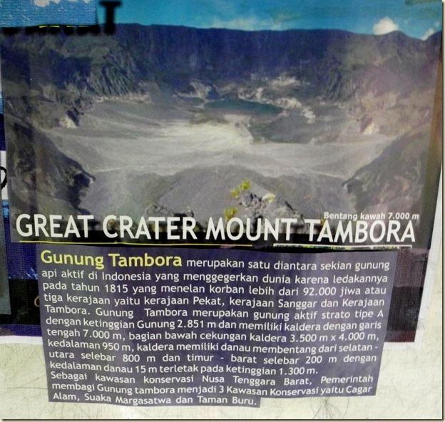 Фото кальдеры вулкана Тамбора