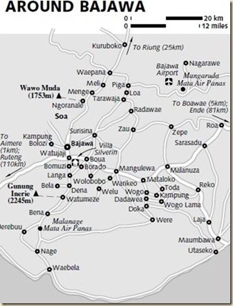 Карта окрестностей Баджавы