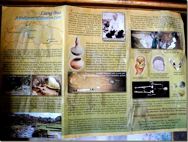 Брошюра об истории пещеры Лианг Буа