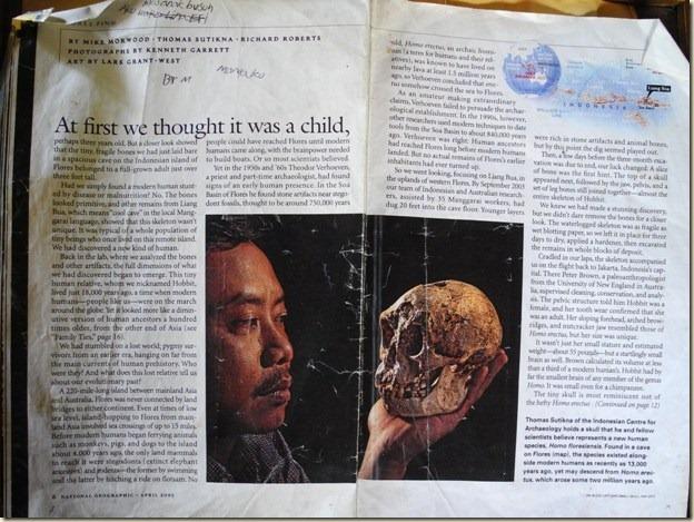 Вырезка из журнала об удивительной находке