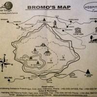 Карта окрестностей вулкана Бромо