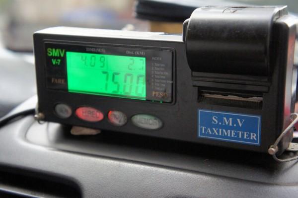 Стандартный счетчик в такси на Филиппинах