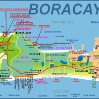 Карта острова Боракай