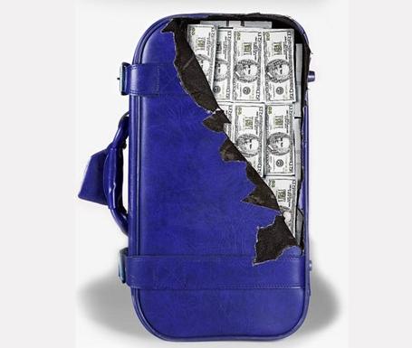 чемодан с баксами