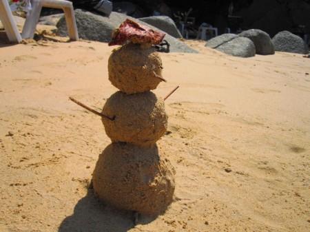 Песочный человек, или русский снеговик в Таиланде