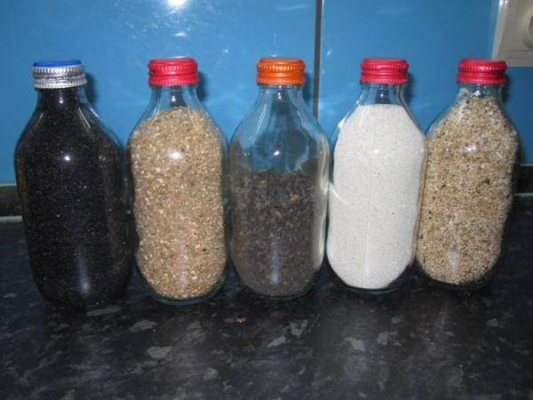 пополнение коллекции песка