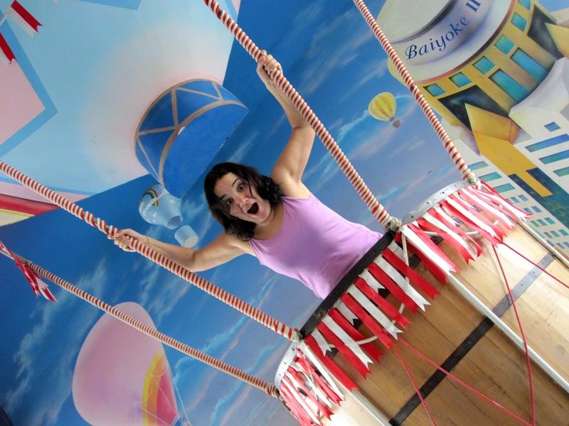 Я улетаю на большем воздушном шаре, куда не знаю, зачем не знаю :-)