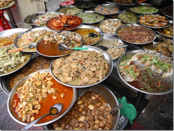 Еда на улицах Чайна Таун