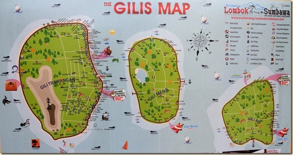 Карта островов Гили