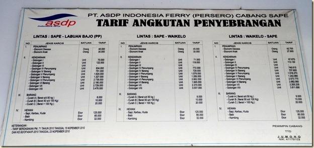 Тарифы на проезд паромом