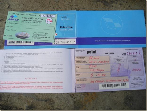 Билеты на корабль Пелни выглядят так