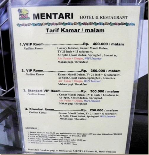 Hotel Mentari в Энде
