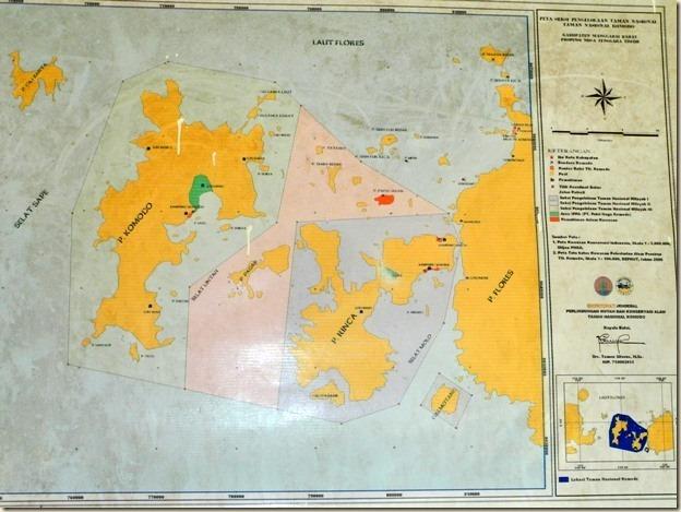 Карта парка Комодо