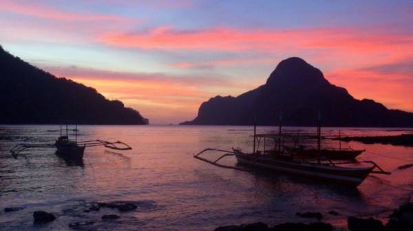Закат со стороны Эль Нидо